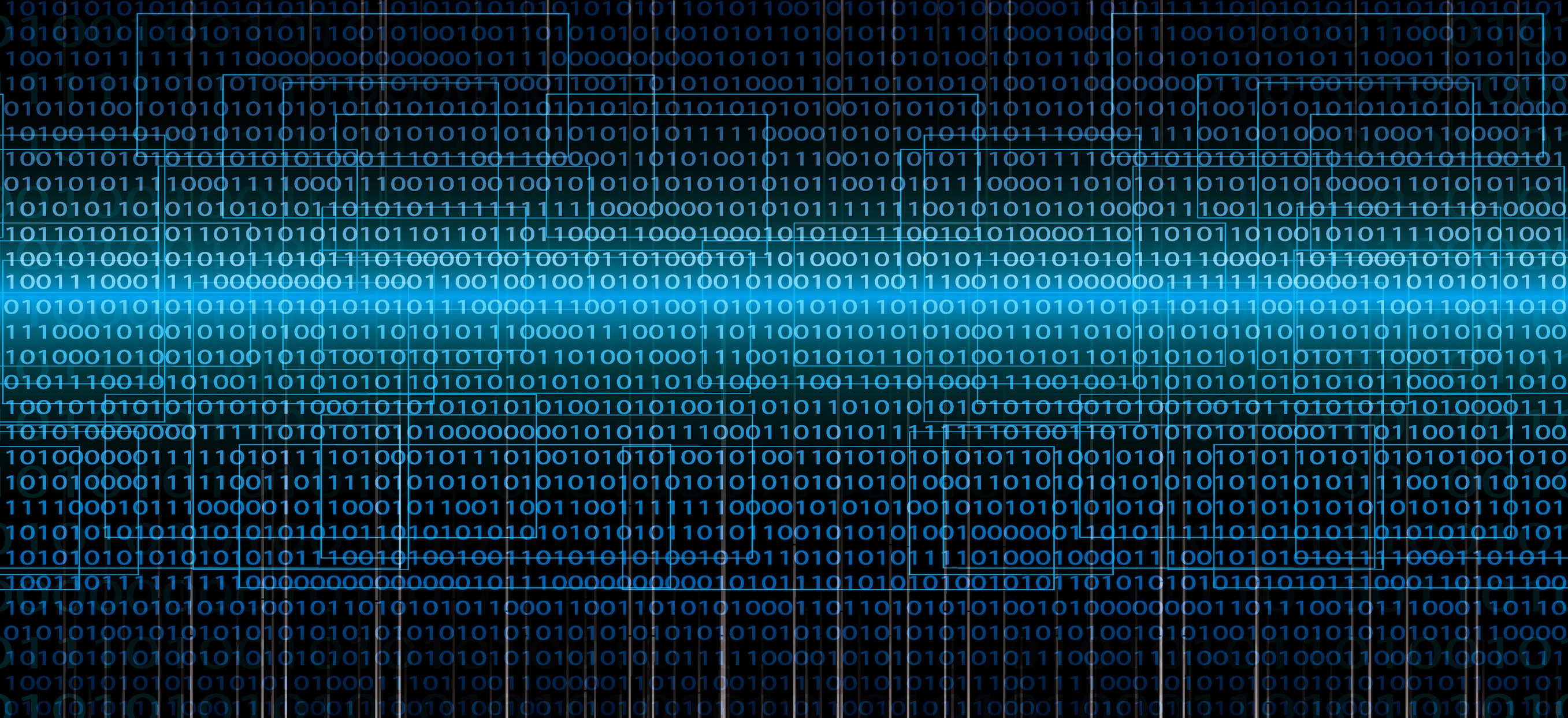 Abstract Tech Binary Background Vram Computers